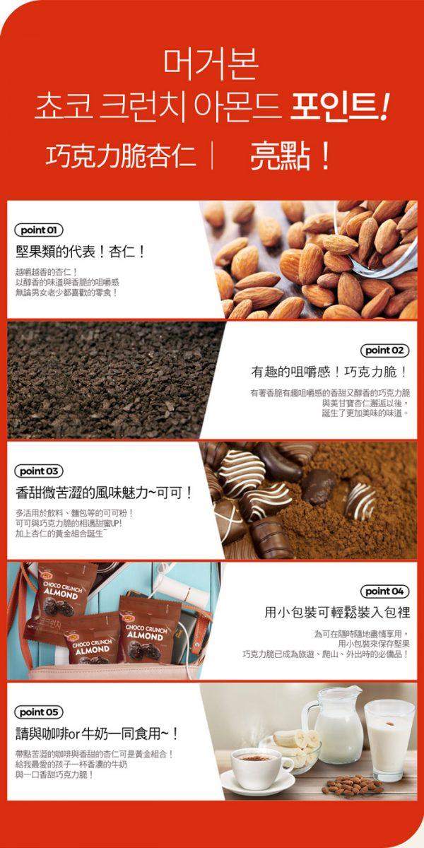 韓國 Murgerbon 火爆強檔 親友激推 必買現貨 巧克力杏仁果-單裝包(28g)
