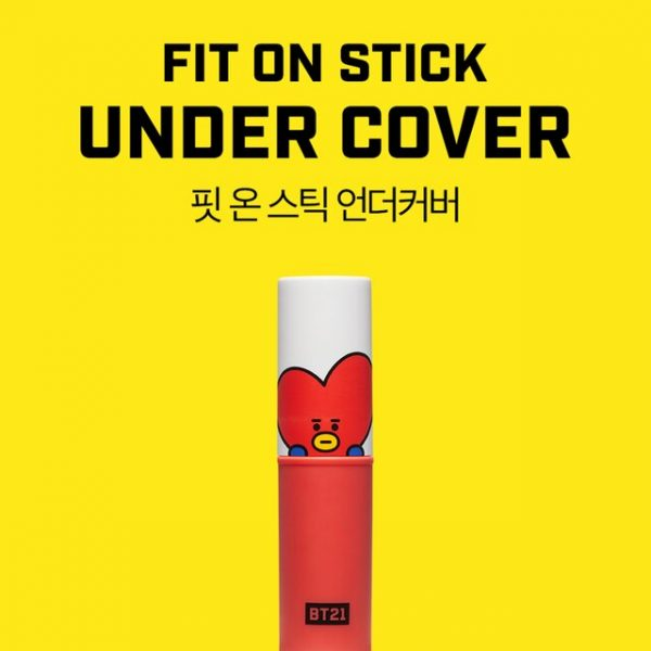 VT BT21 FIT ON STICK 04 UNDER COVER The perfect cover stick for dark circles and dull skin tones. Not only does this stick correct blueish dark tones but it also corrects uneven skin texture and creates a bright skin effect. In a smooth balm formula, this stick glides right on your skin allowing for color correcting and brightening. V